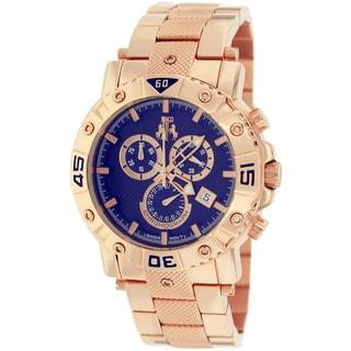 Jivago Men's JV9126 Titan Round Rose-tone Stainless Steel Bracelet Watch