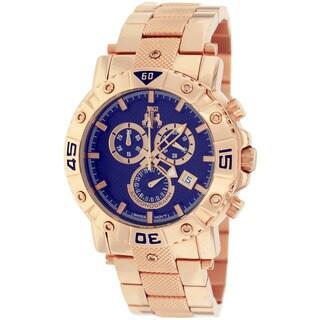 Jivago Men's Titan Round Rose-tone Stainless Steel Bracelet Watch