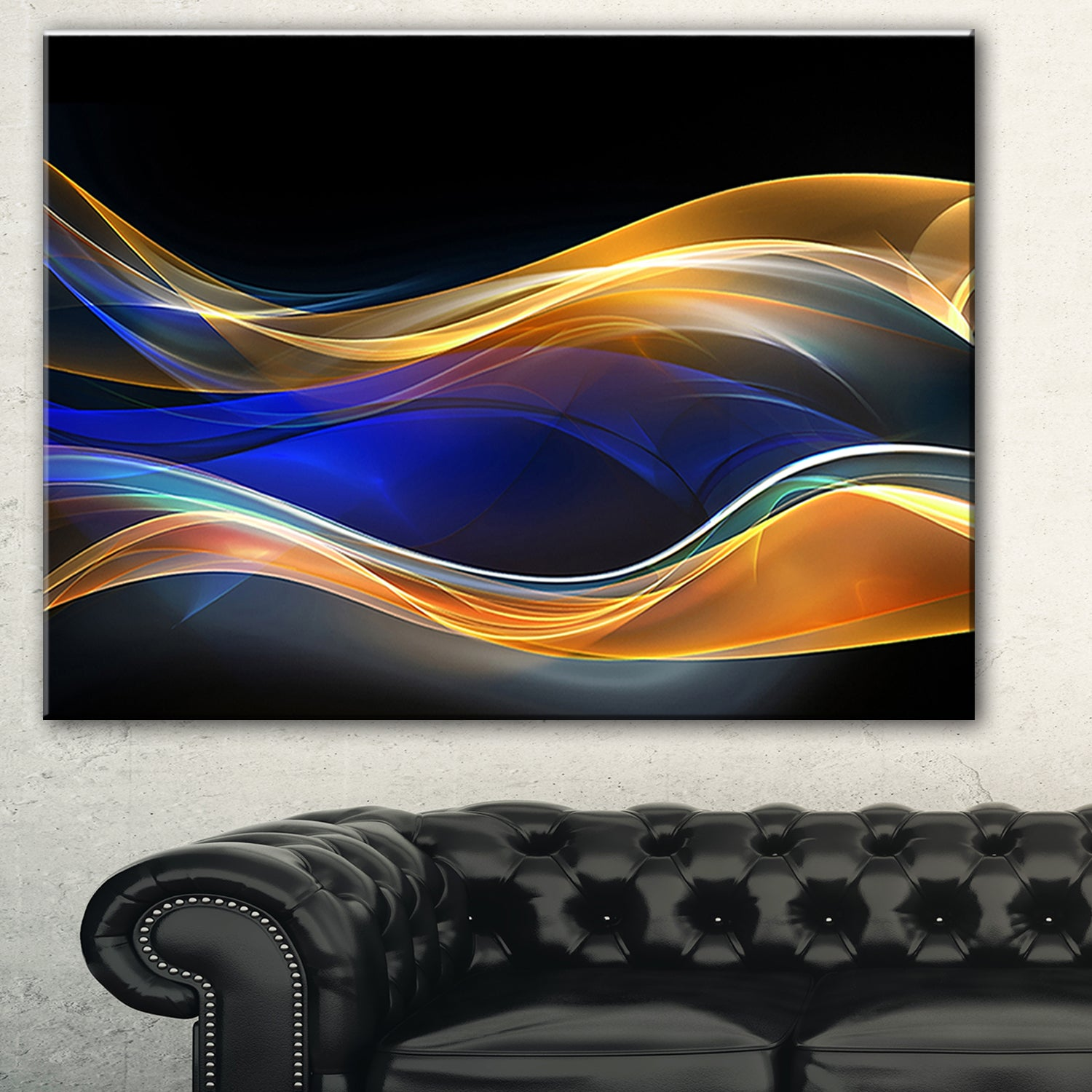 Fractal Wave Canvas Print 20*30 Inch HUGE !
