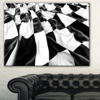 Designart '3D Checkered Flag' Abstract Digital Art Canvas Print