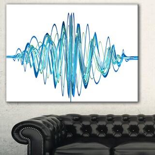 Designart 'Blue Circled Waves' Abstract Digital Art Canvas Print