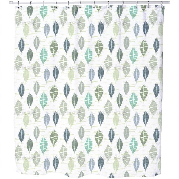 Leaves in Pastel Shower Curtain