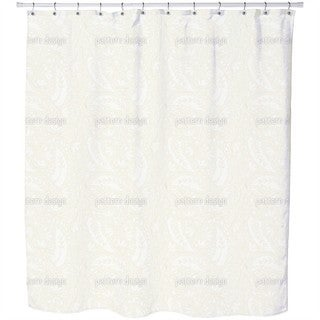 Leaves and Flowers Paisley Shower Curtain