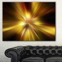 Designart 'Explosion of Golden Hue' Abstract Digital Art Canvas Print