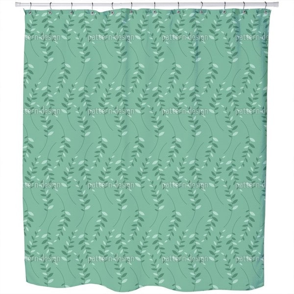 Leaf Meeting Shower Curtain