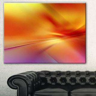 Designart 'Orange Red Wallpaper Art Abstract Digital Art Canvas Print
