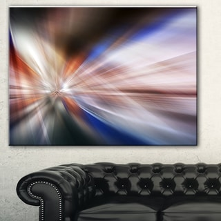 Designart 'White Focus Color' Abstract Digital Art Canvas Print