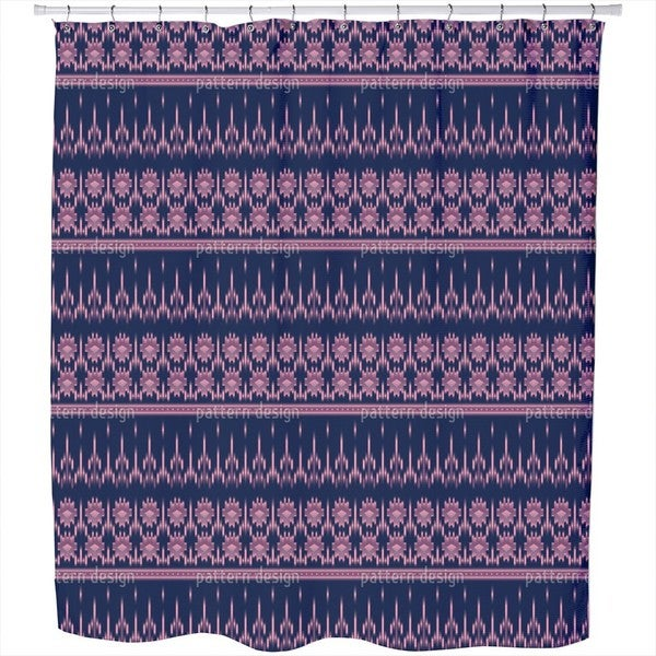 Latin Ikat Shower Curtain
