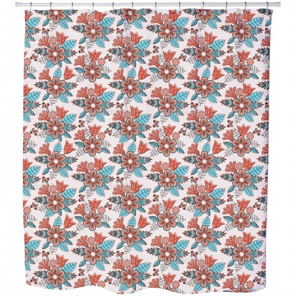 Late Summer Flowers Shower Curtain