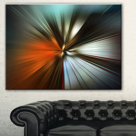 Designart 'Brown Focus Color' Abstract Digital Art Canvas Print