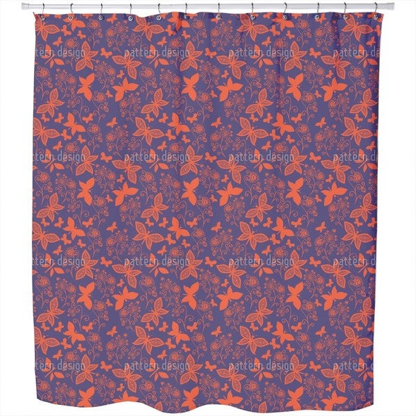 Late Butterfly Romance Shower Curtain