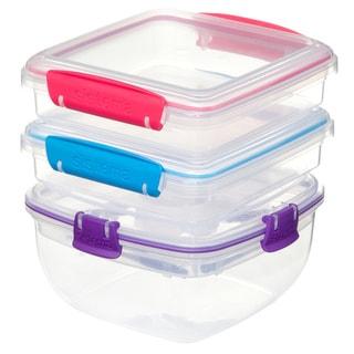 pack of 2 plastic bento lunch box set with utensils food. Black Bedroom Furniture Sets. Home Design Ideas