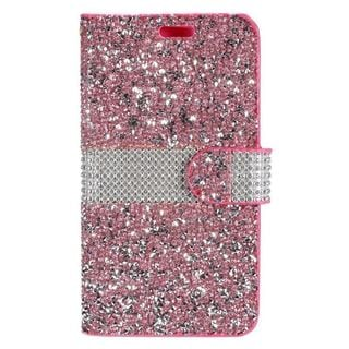 Insten Leather Rhinestone Bling Case Cover For Samsung Galaxy Grand Prime