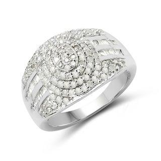 Olivia Leone Sterling Silver 0.93 ct TDW White Diamond Ring ( I-J )
