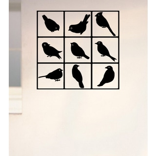 Birds in the square Wall Art Sticker Decal
