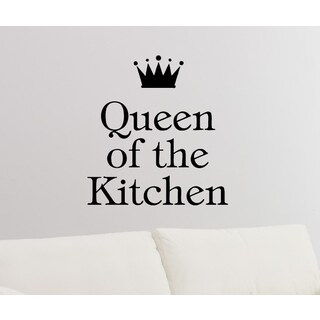 Phrase Queen Of The Kitchen Wall Art Sticker Decal