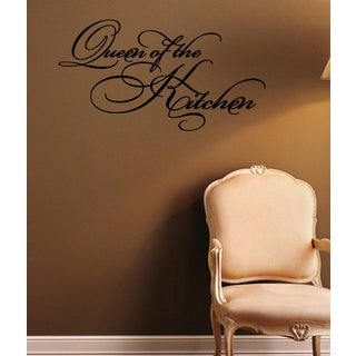 Beautiful Inscription Queen Of The Kitchen Wall Art Sticker Decal