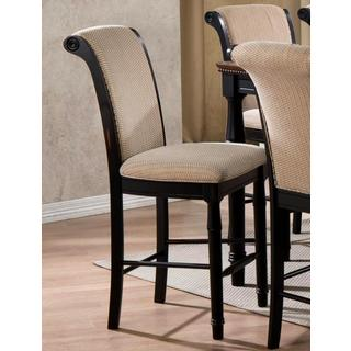 Emperor Rolled Back Design Distressed Two-tone Counter Height Stools (Set of 2)