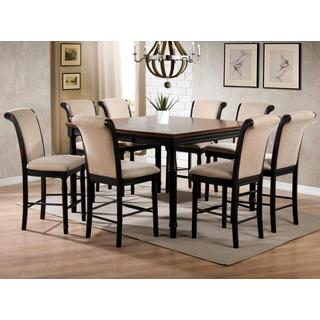 Emperor Rolled Back Design Distressed Two-tone Counter Height Dining Set