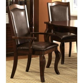 Obernau Rich Classic Crown Design Arm Chairs (Set of 2)