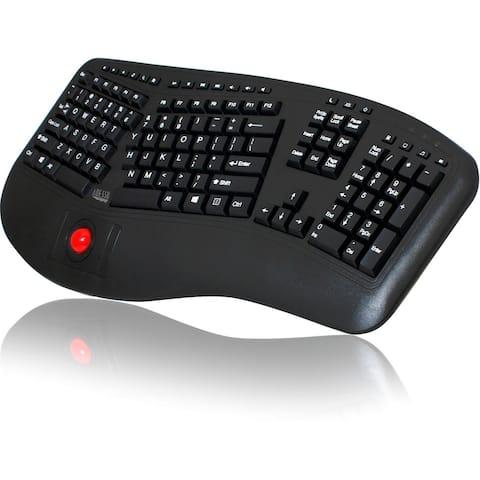 Adesso Tru-Form 3500 - 2.4 GHz Wireless Ergonomic Trackball Keyboard