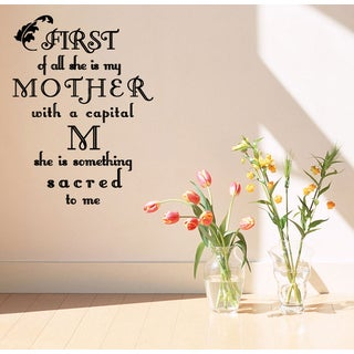 Quote about mother Wall Art Sticker Decal