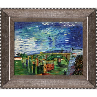 Vincent Van Gogh 'The Seine Bridge at Asnieres' Hand Painted Canvas Art