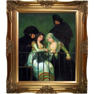 Francisco Goya 'Group On A Balcony' (Luxury Line) Hand Painted Canvas Art