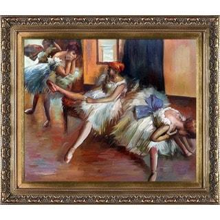 Edgar Degas 'Ballet Rehersal' (detail) Hand Painted Canvas Art