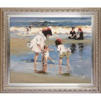 Edward Henry Potthast 'Children Playing at the Seashore' Hand Painted Canvas Art
