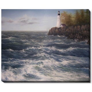Jerry Sauls 'High Winds at the Point' Fine Art Print