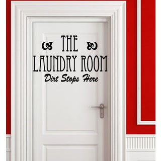 Inscription The Laundry Room Wall Art Sticker Decal
