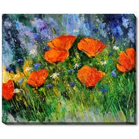 Pol Ledent 'Poppies 97' Fine Art Print - Orange