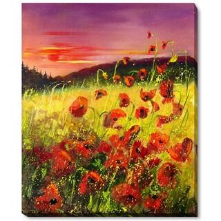 Pol Ledent 'Poppies in Sunset' Fine Art Print