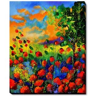 Pol Ledent 'Red Poppies 451150' Fine Art Print