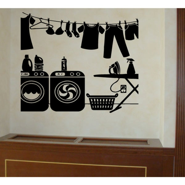 washer laundry room wall art sticker decal free shipping laundry room vinyl wall decal sticker large