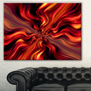 Designart 'Red Infinity Illustration' Abstract Digital Art Canvas Print