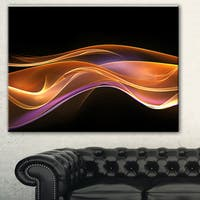 Designart '3D Gold Pink Wave Design' Abstract Digital Art Canvas Print