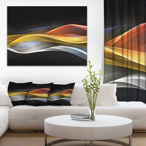 Home Design 3d Gold Import: Shop Designart '3D Gold Silver Wave Design' Abstract