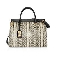 Lauren Ralph Lauren Whitby Snake-Embossed Leather Satchel Handbag