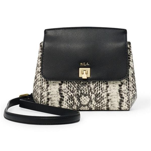 d24783b41251 Shop Lauren Ralph Lauren Whitby Snake-Embossed Crossbody Handbag ...