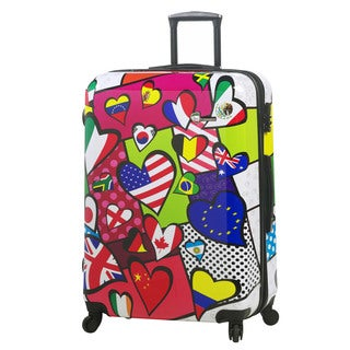 Mia Toro Italy International Love 28-inch Fashion Hardside Spinner Upright Suitcase