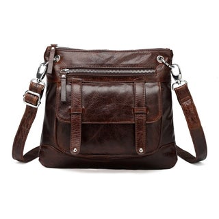 Vicenzo Leather Ella Distressed Leather Crossbody Handbag