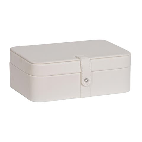 Mele & Co. 'Lila' Ivory Faux Leather 48-section Jewelry Box