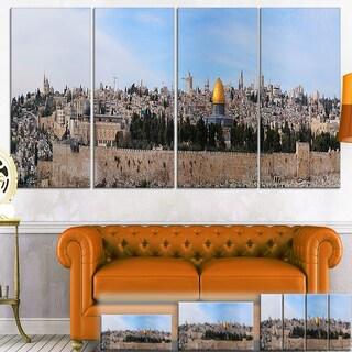 Designart 'Jerusalem Cityscape Panorama' Photo Canvas Print