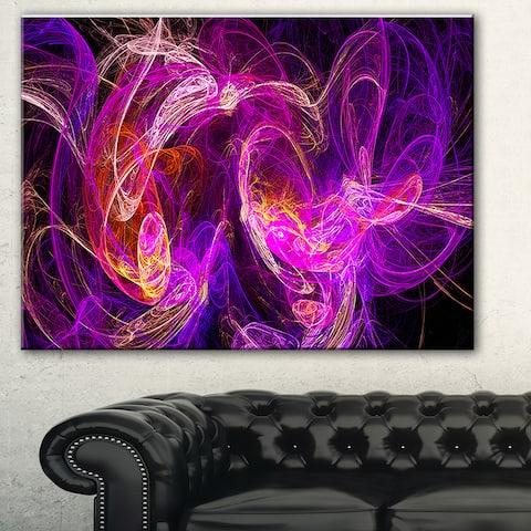 Designart 'Colored Smoke Blue Purple' Abstract Digital Art Canvas Print