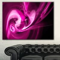 Designart 'Colored Smoke Spiral Purple' Abstract Digital Art Canvas Print