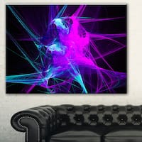 Designart 'Purple Glowing Ball of Smoke' Abstract Digital Art Canvas Print