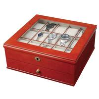 Mele & Co. 'Chris' Walnut Locking Wood Watch Box