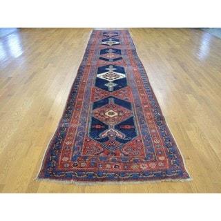 Wide Antique Persian Bidjar Good Cond Handmade Runner Rug (3'9 x 18'4)